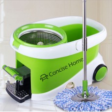 Concise Home Spin Mop Bucket System - Microfiber Mop with Easy Wringer Bucket